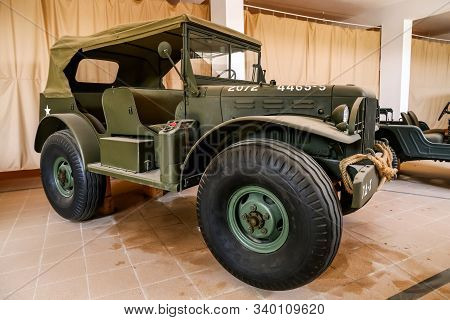 Merzouga, Morocco - September 25, 2019: American Military Truck Dodge Wc-series In The Morocco Natio