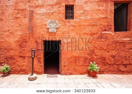 View Of The Entrance To The House In The Monastery Of Saint Catalina, Arequipa, Peru