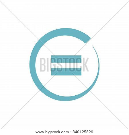 Equal Sign. Flat Style. Equal Icon Illustration Isolated On White Background. Equal Icon For Graphic