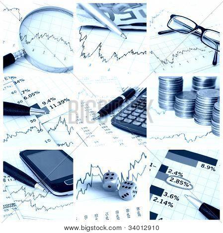 Finanzen-collage