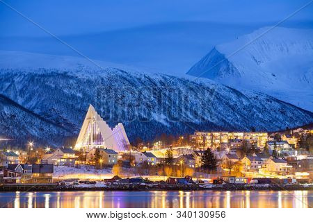 Tromso At Winter Time, Christmas in Tromso, Norway