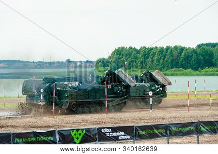 Tyumen, Russia - August 10, 2019: International Army Games. Engineering Formula Contest. Highest Mil