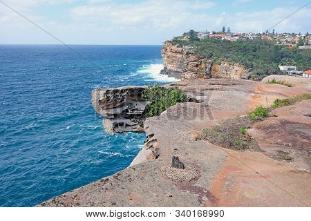 A Part Of Federation Cliff Walk Watsons Bay With Stunning Views On High Sandstone Cliffs And Amazing
