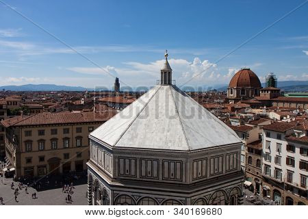 Florence Baptistery Of Saint John Viewed From The Duomo