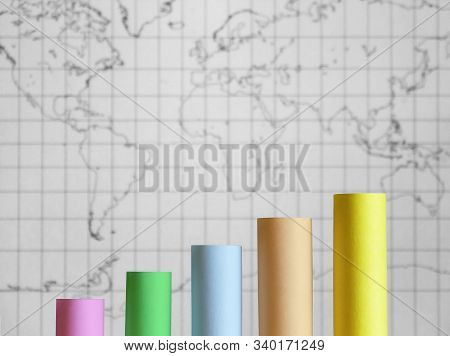 The Business Graph With Vertical Lines For Business And Financial Information