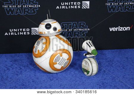 BB-8 and D-O at the World premiere of Disney's 'Star Wars: The Rise Of Skywalker' held at the Dolby Theatre in Hollywood, USA on December 16, 2019.