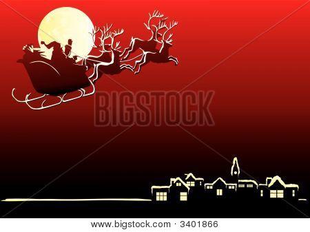 Santa kommt zur Stadt