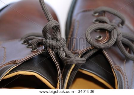 Close-Up Of Man Shoes