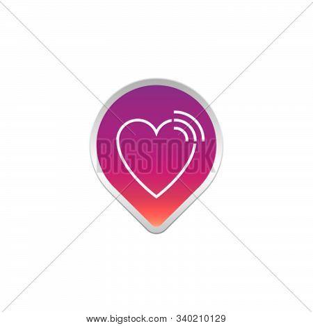 Love Finder Icon Logo Design. Simple Flat Vector Illustration
