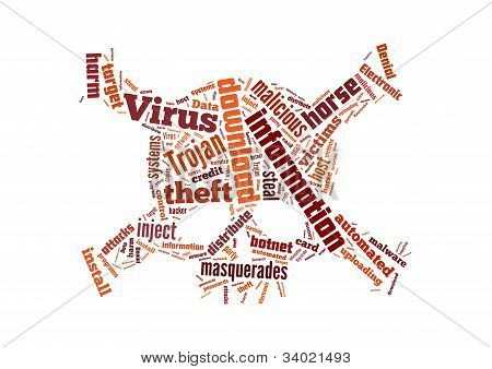 Background Illustration Of Computer Trojan Horse Virus