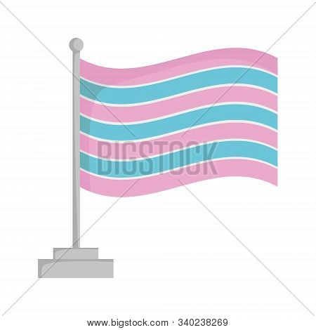 Transsexual Pride Flag Isolated On White Background Vector Illustration
