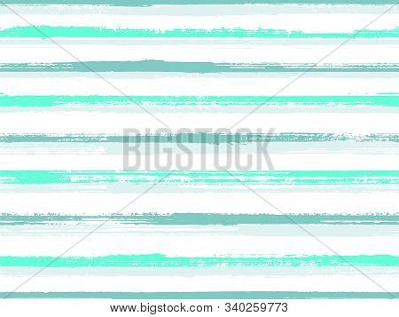 Hand Drawn Paint Stripes Fabric Print Seamless Vector. T-shirt Fashion Line Pattern. Hand Painted St