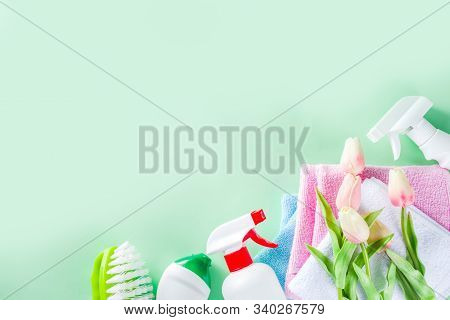 Spring Home Cleaning And Housekeeping Concept