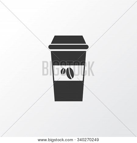 Takeaway Coffee Icon Symbol. Premium Quality Isolated Decaf Element In Trendy Style.