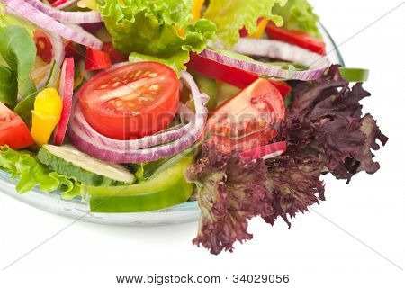 serving of healthy vegetables salad