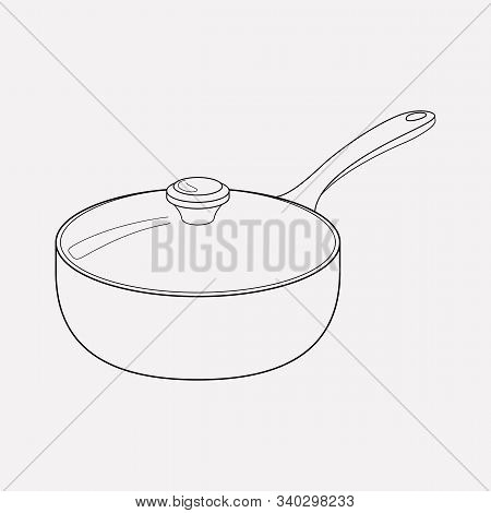 Saucepan Icon Line Element. Vector Illustration Of Saucepan Icon Line Isolated On Clean Background F