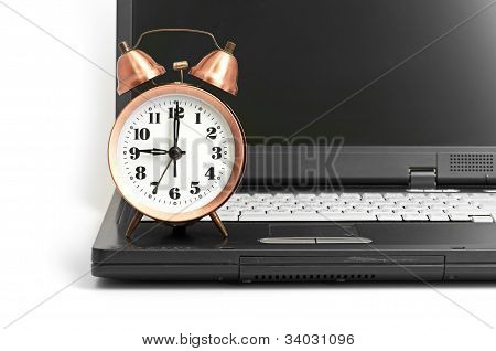Conceptual shot of office work in relation with time efficiency.