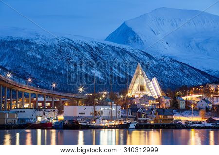 View on Tromso, Norway, Tromso At Winter Time, Christmas in Tromso, Norway