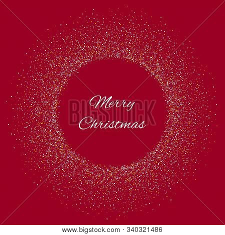 Christmas Card Design. Discount Coupon Vector Illustration. Wood Beautiful Greeting Card With Christ