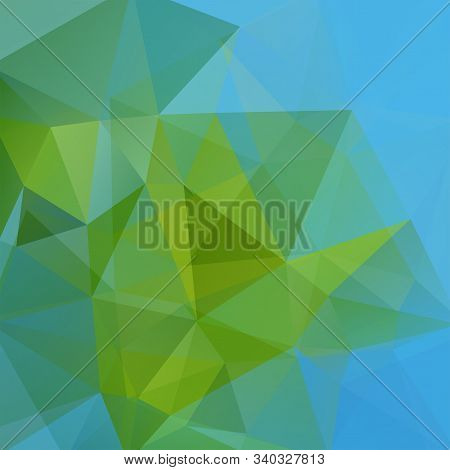 Abstract Polygonal Vector Background. Geometric Vector Illustration. Creative Design Template. Green