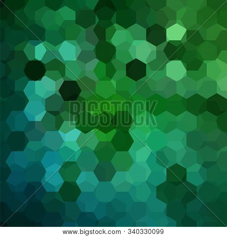 Background Of Green, Blue Geometric Shapes. Mosaic Pattern. Vector Eps 10. Vector Illustration
