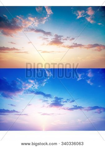 Beautiful Sunset Shot Photos, High - Definition Sky White Cloud Computer Desktop Background Wallpape