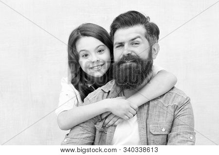 Family Hug. Strengthening Father Daughter Relationships. Child And Dad Best Friends. Friendly Relati