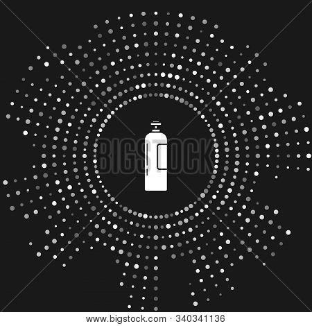White Industrial Gas Cylinder Tank For All Inert And Mixed Inert Gases Icon Isolated On Grey Backgro