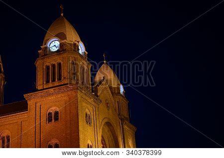 A Very Nice And Big Church Floodlit