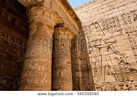 Temple Medinet Habu Egypt Luxor Of Ramesses Iii Is An Important New Kingdom Period Structure In The