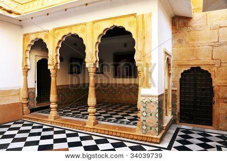 Architectural detail of Mandir Palace, Jaisalmer, India, Asia poster