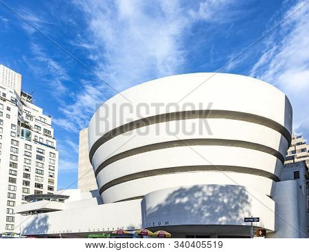 New York, Usa - Oct 6, 2017:  Solomon R. Guggenheim Museum Is The Permanent Home Of A Collection Of
