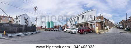 Gloucester, Usa - Sep 14, 2017: Big Halls In The Harbor Area For The Lobster Fishing Industry In Glo