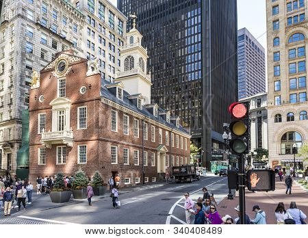 Boston, Usa - Sep 12, 2017:  Old State House, It Served Not Only As The State House For The Seat Of