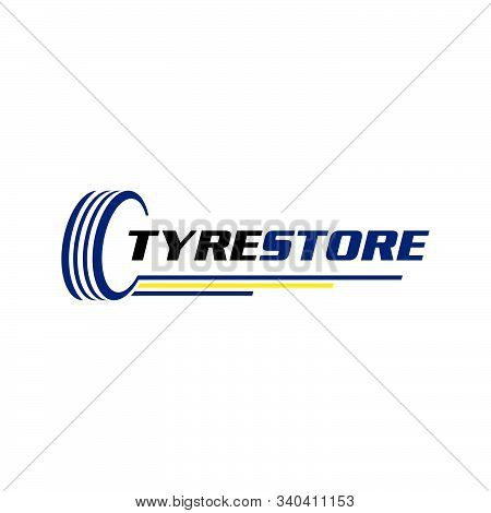 Tire Shop Logo Template. Tire Icon Vector Illustration.