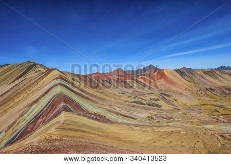 Beautiful Colored Rainbow Mountain, Vinicunca, Andes, Cordillera De Los Andes, Cusco Region, Peru, S