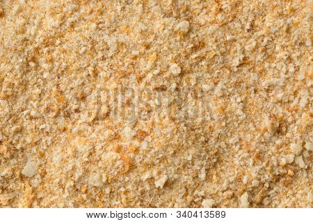 Bread crumbs close up full frame