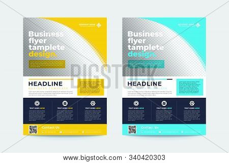 Blue And Yellow Brochure And Flyer Design, Brochure Template, Brochures, Brochure Layout, Brochure C