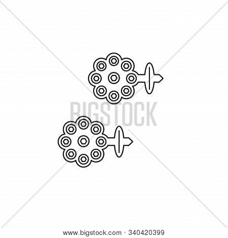 Earring Vector Icon. Lined Flat Sign For Mobile Concept And Web Design. Earring Glyph Icon. Symbol,