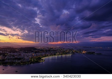 Beautiful View Of Rio De Janeiro From Sugar Loaf Mountain, Pao De Acucar, Brazil, South America