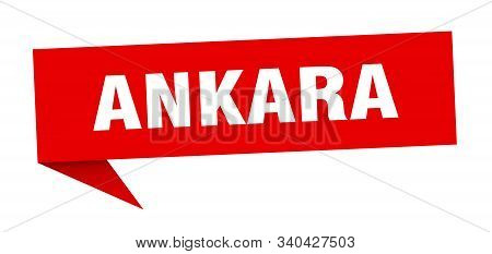 Ankara Sticker. Red Ankara Signpost Pointer Sign