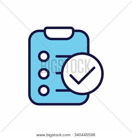 In Compliance Icon W Paper, Checks And List