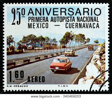 Mexico - Circa 1977: A Stamp Printed In Mexico Issued For The 25th Anniversary Of The First National
