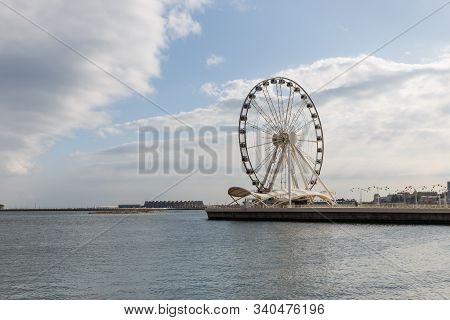 Baku Ferris Wheel Also Known As The Baku Eye Is A Ferris Wheel On Baku Boulevard, Azerbaijan