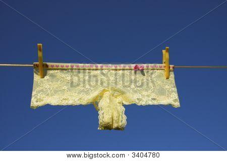 Washing Laundry Line