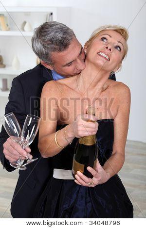 Festive couple