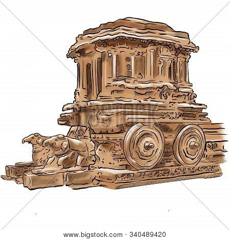 Hampi And The Ruins Of Vijayanagara Karnataka City India.