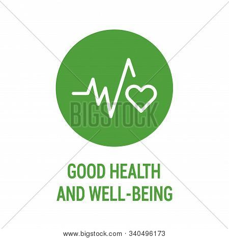 Good Health And Wellbeing Color Icon. Corporate Social Responsibility. Sustainable Development Goals