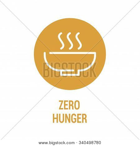 Zero Hunger Color Icon. Corporate Social Responsibility. Sustainable Development Goals. Sdg Sign. Pi