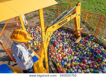 Voronezh, Russia - July 15, 2019: Children's Attraction